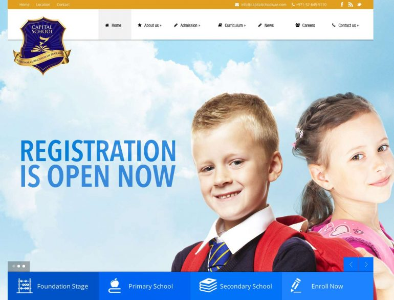 Capital School website